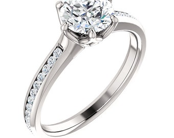Platinum 1 Carat Diamond Engagement Ring