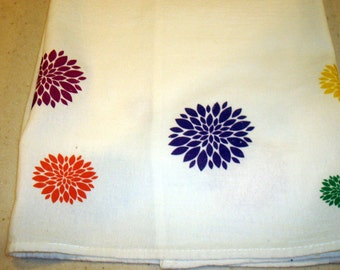 Flour Sack Towel (Multicolor Sunbursts)