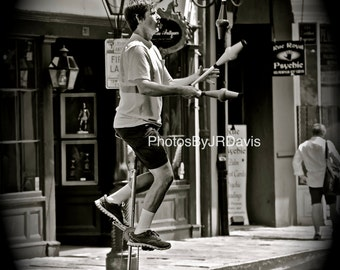 Juggling Unicycler in NOLA (Photo on Canvas)
