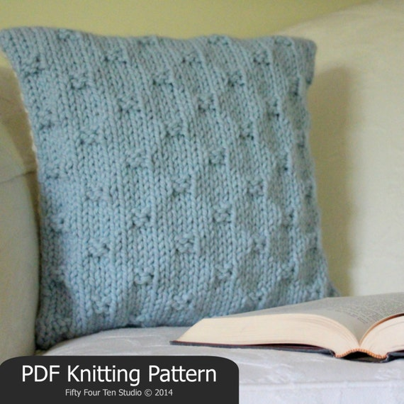 Knitting Pillow Pattern : Knitting pattern pillow cushion quick easy knit