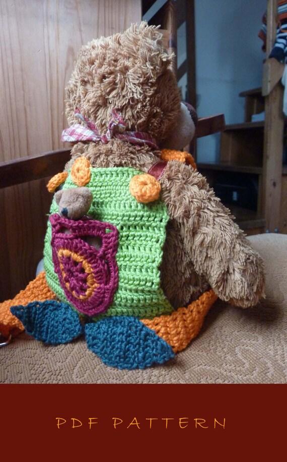 Doll carrier crochet pattern PDF baby by MamasCrochetPatterns