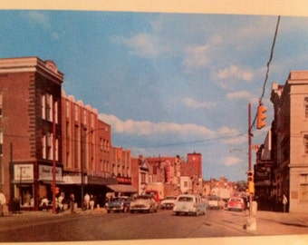 Postcard Ohio Wooster OH  Main Section of Town 1950's Mint Chrome