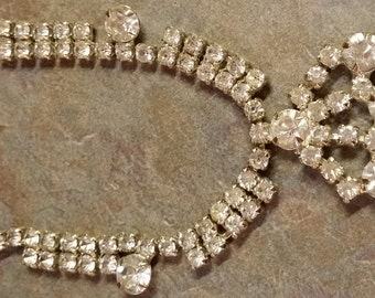 Vintage Blingy Rhinestone Necklace