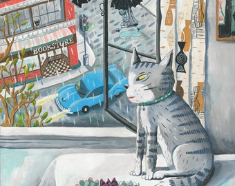 Rita on a rainy afternoon. A limited edition giclee print.