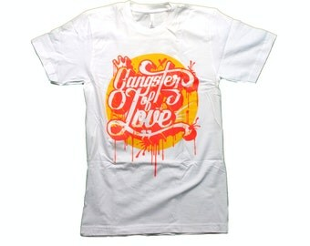 Huzzy's Handmade Gangster of Love Tshirt, Great gift for Husband, Dad or Boyfriend!