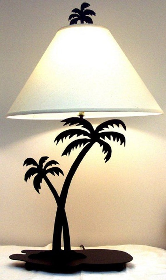 table lamp palm tree plasma cut design made by parocustomlighting. Black Bedroom Furniture Sets. Home Design Ideas