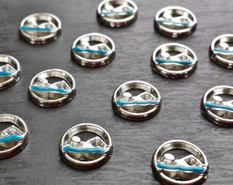 Swimmer Floating Charms for Floating Lockets-Fits All Floating Lockets-Gift Ideas