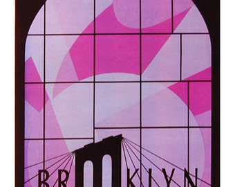 A series of 6 graphic posters celebrating Brooklyn.