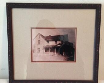 Vintage Haunted House Photo- Old Farmhouse