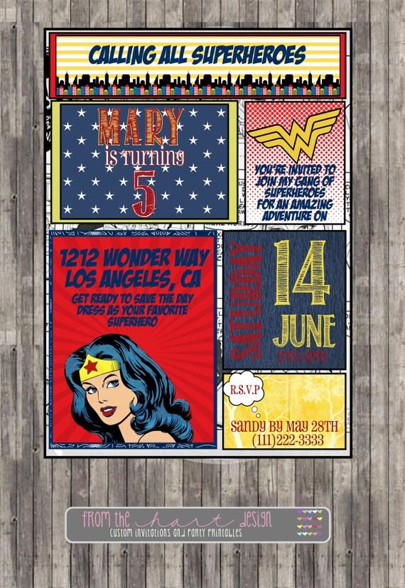 Free Superhero Birthday Invitations is good invitation example