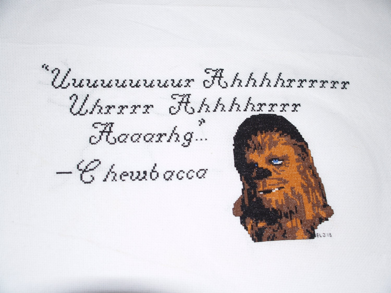 Full pattern for Chewbacca quote pattern by KnitNerdRant on Etsy