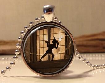 Peter Pan  Jewelry, Peter Pan Necklace Peter Pan art pendant jewelry.  (peter pan #11)