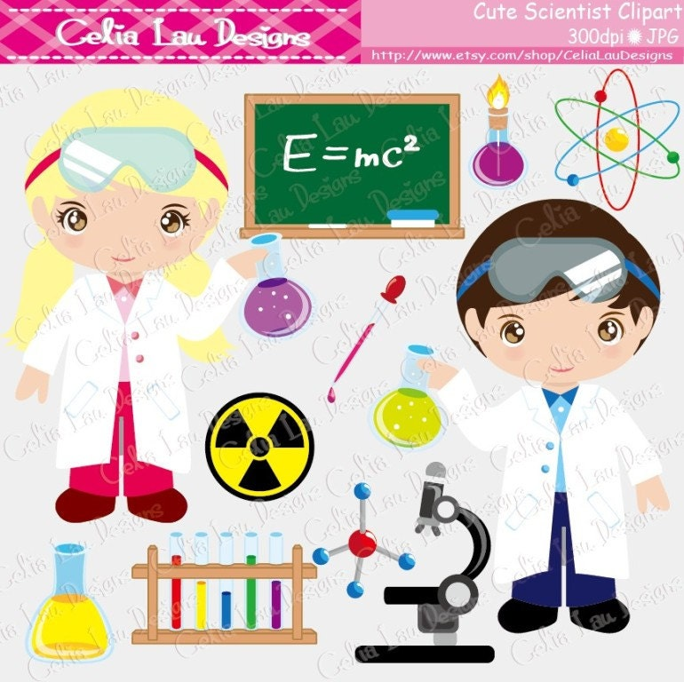 Cute Science Clipart cute scientist digital clipart mad scientist by ...