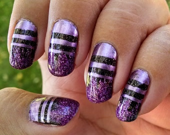 Stripe Vinyl Nail Decals / Vinyl Nail Painting Guides