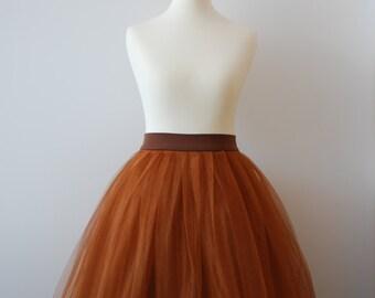 Cinnamon cupcake - ladies tulle skirt / adult tutu skirt