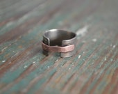 Rustic Men's Ring // Statement Ring // Modern Jewelry // Gift Idea For Him // Handmade by Korey Burns