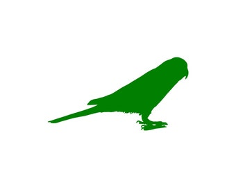 Quaker Parrot Vinyl Decal Sticker - Choose your Color and Size