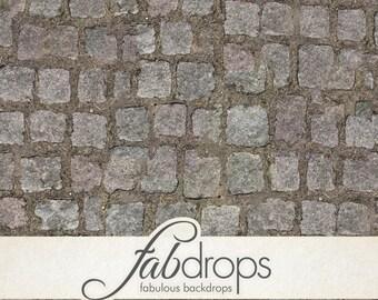 Cobble Stone Backdrop / Photography Floor Drop (FD0803)