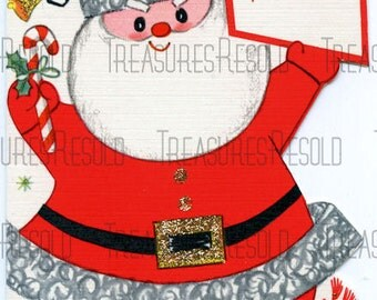Retro Santa Claus Christmas Card #98 Digital Download