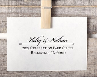 Custom Return Address Arrow Stamp Style No. 2