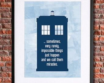 Doctor Who Poster Tardis Poster | Instant Download Printable Art, 11th Doctor, Matt Smith, Dr Who, Doctor Who Print, The Doctor Who Quote