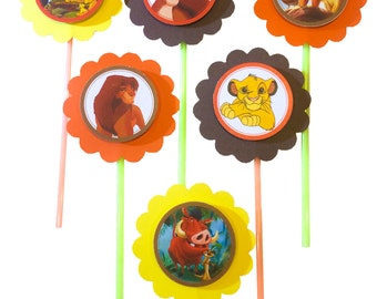 The Lion King cupcake toppers - Set of 12