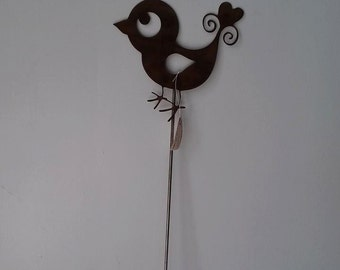 Whimsical Bird Garden Stake