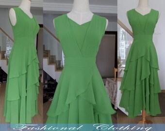 green blue red long dress spring autumn summer dress women clothing maxi chiffon dress beach dress party dress