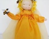 Yellow Spring Fairy for the Nature Table - Persephone