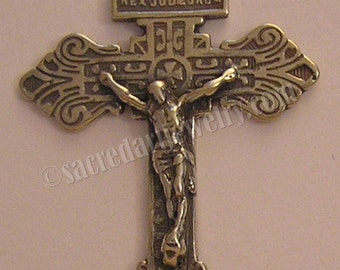Pardon Crucifix | Rosary Crucifix | Catholic Rosary | Cross | Antique | Sterling Silver | Bronze | Rosary| Crucifix | Catholic Pendant #775