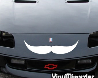 Mustache Vinyl Wall Decal Or Car Sticker - Mvd012ET