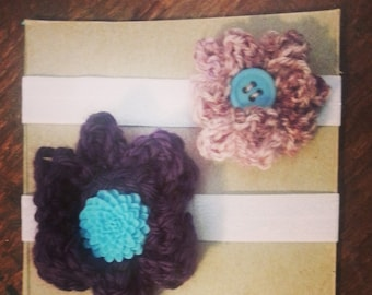 Mini Button Flower Headband