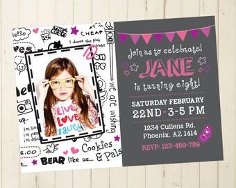 6th birthday invitation girl birthday invitation girl cool invitation 7th birthday invitation 8th 10th 11th 9th 12th 13th 14th 196