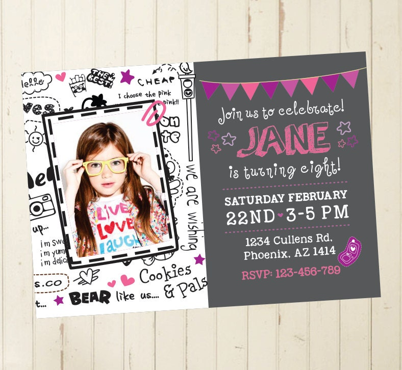 6th birthday invitation girl birthday invitation girl cool – 12th Birthday Invitations