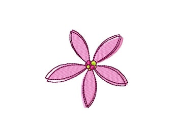 Flower (6) - Filled Embroidery Design - Instant Digital Download Embroidery File