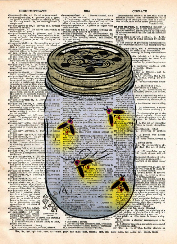 Firefly jar fireflies in mason jar childrens art vintage