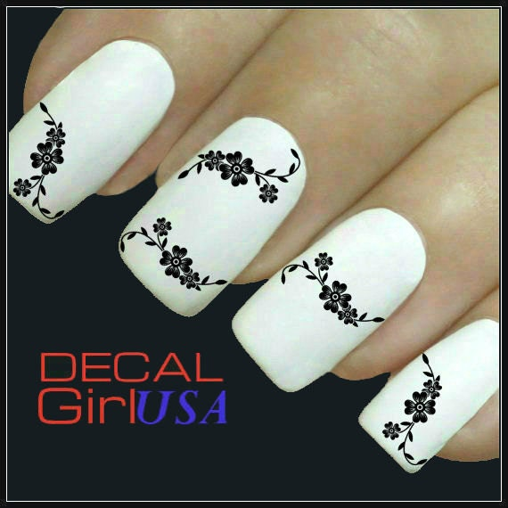 Beautiful Flower Nail Decals