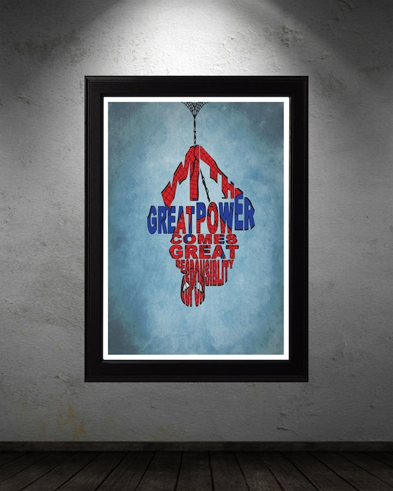 Spiderman Poster Minimalist Typography Poster By