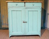 SOLD / Primitive Cupboard // Farmhouse Decor // Wood Cabinet // Farmhouse Cabinet // Farmhouse Antique // Prairie Decor // Turquoise