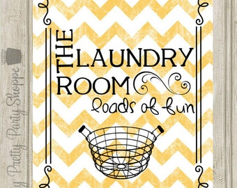 8x10 Laundry Room Printable Wall Art Sign INSTANT DOWNLOAD
