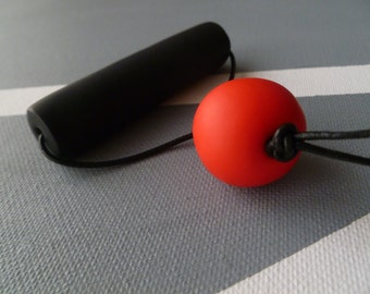 Cylinder and Sphere Polymer Necklace
