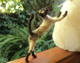 Made-to-order Custom Needle Felted Cat siamese/other soft sculpture