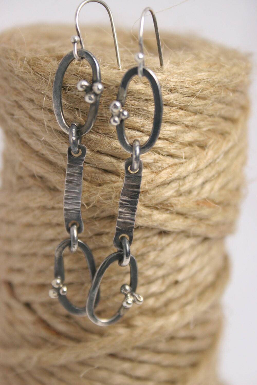 handmade sterling silver earrings dangle