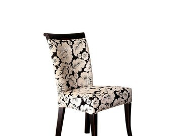 Upholstered chair in wood