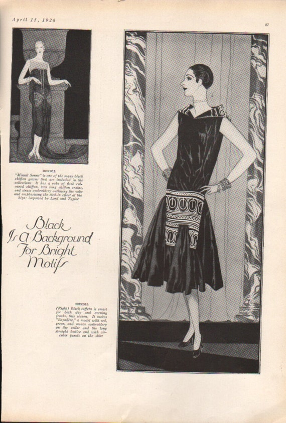 Three for four art deco era fashion print from by paperdhamma for Art deco era clothing