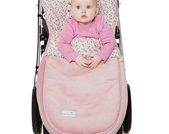 Footmuff Cosy Toes - Pink - The Matilda - Bugaboo/Baby Jogger/iCandy/UppaVista, Universal Buggy Liner