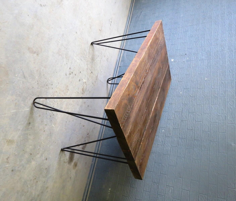 Industrial Chic Reclaimed Custom Hairpin Leg fice Desk