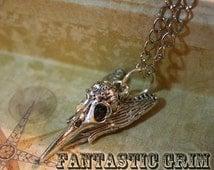 Grimento Mori Birdskull Necklace - Silver