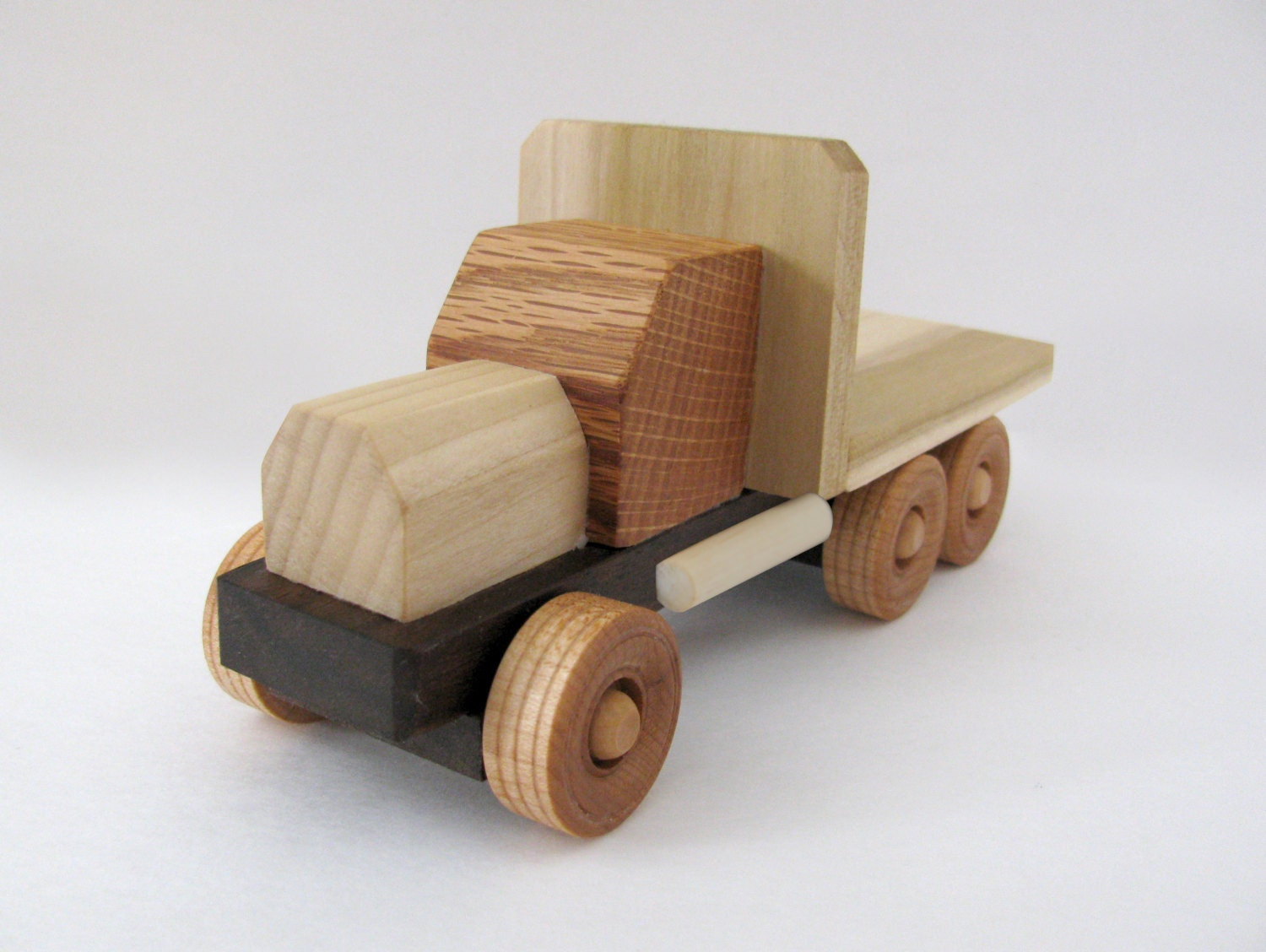 Wooden Toys For Boys : Wooden toy truck toys for boys great kids gift reclaimed