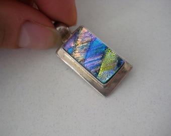925 Sterling silver multicolor Glass pendant